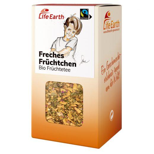Fairtrade Bio Früchtetee Holunder Freches Früchtchen von Life Earth in der Schachtel