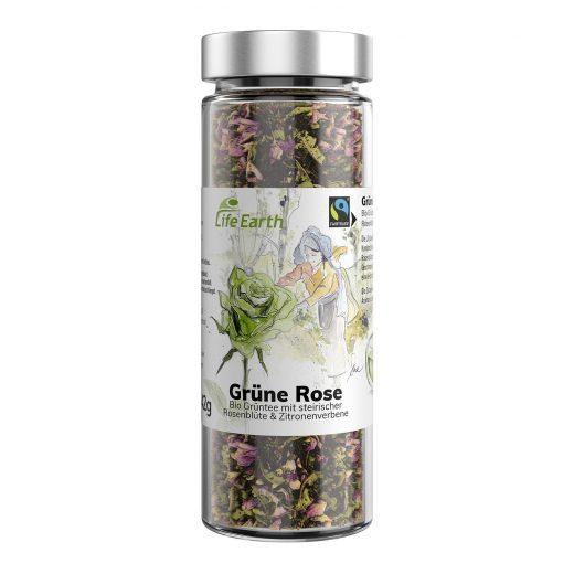 Fairtrade Bio Grüntee Rose von Life Earth im Glas