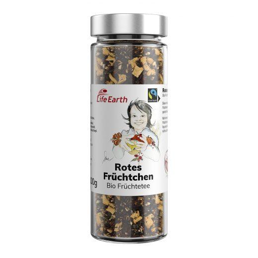Fairtrade Bio Früchtetee Hagebutte Rotes Früchtchen von Life Earth im Glas