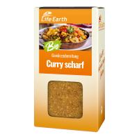 Bio Curry scharf Gewürzmischung von Life Earth Verpackung