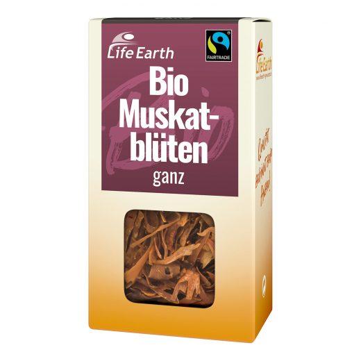 Fairtrade Bio Muskatblüten ganz von Life Earth Verpackung