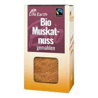 Fairtrade Bio Muskatnuss gemahlen von Life Earth Verpackung