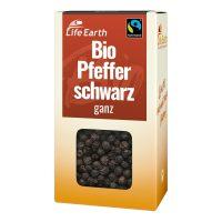 Fairtrade Bio Pfeffer schwarz ganz von Life Earth Verpackung
