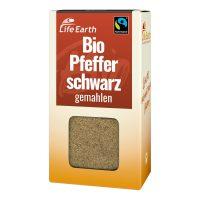 Fairtrade Bio Pfeffer schwarz gemahlen von Life Earth Verpackung