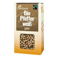 Fairtrade Bio Pfeffer weiß ganz von Life Earth Verpackung