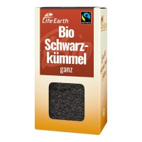 Fairtrade Bio Schwarzkümmel ganz von Life Earth Verpackung