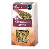Fairtrade Bio Kardamom ganz von Life Earth Verpackung