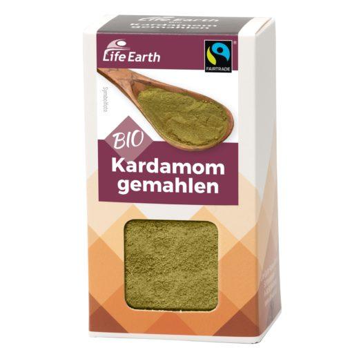 Fairtrade Bio Kardamom gemahlen von Life Earth Verpackung