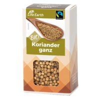 Fairtrade Bio Koriander ganz von Life Earth Verpackung