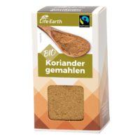 Fairtrade Bio Koriander gemahlen von Life Earth Verpackung