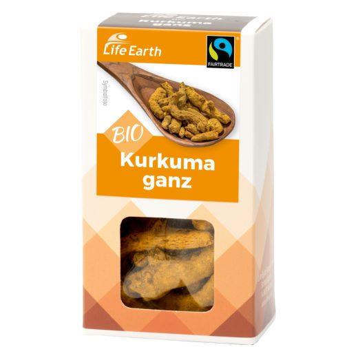 Fairtrade Bio Kurkuma ganz von Life Earth Verpackung