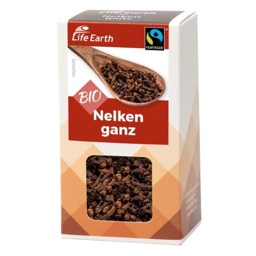 Fairtrade Bio Nelken ganz von Life Earth Verpackung