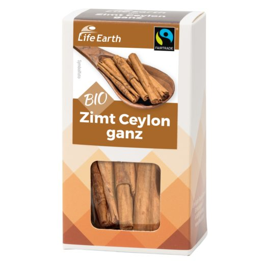 Fairtrade Bio Zimtstangen Ceylon von Life Earth Verpackung