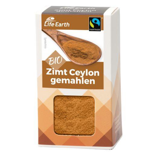 Fairtrade Bio Zimt Ceylon gemahlen von Life Earth Verpackung