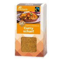 Fairtrade Bio Curry scharf Gewürzmischung von Life Earth Verpackung
