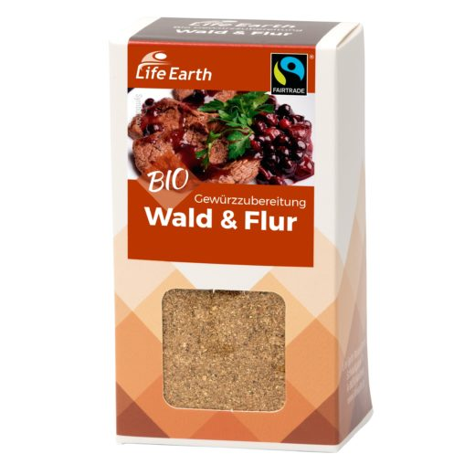 Fairtrade Bio Wildgewürz Wald & Flur von Life Earth Verpackung