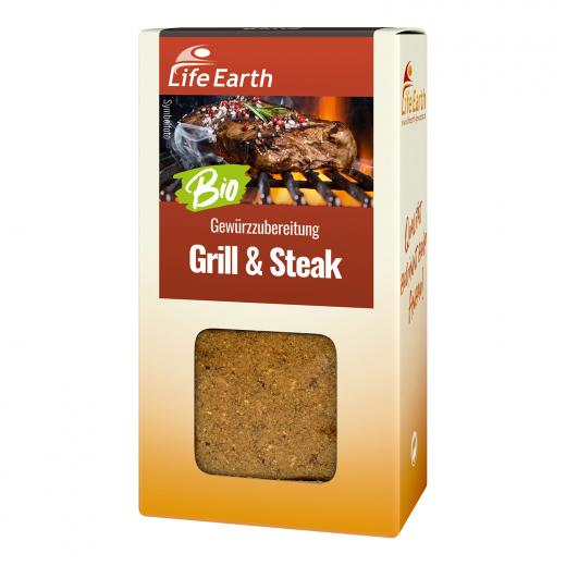Bio Steakgewürz Gewürzmischung von Life Earth Verpackung