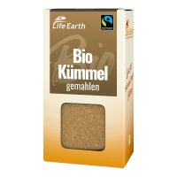 Fairtrade Bio Kümmel gemahlen von Life Earth Verpackung