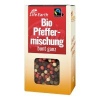 Fairtrade Bio Pfeffer bunt ganz von Life Earth Verpackung