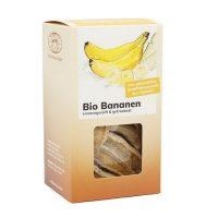 Bio Apfelbananen getrocknet von BioUganda in der Schachtel