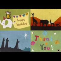 Fairtrade Grußkarten aus Handarbeit: Design Beispiele
