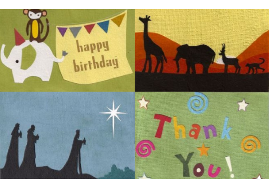 Cards from Africa Header: Card Design Collection
