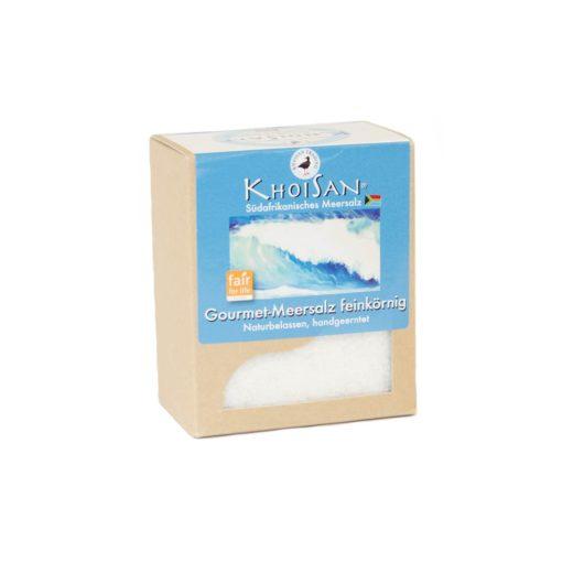 Fairtrade Meersalz feinkörnig in der 500 Gramm Verpackung