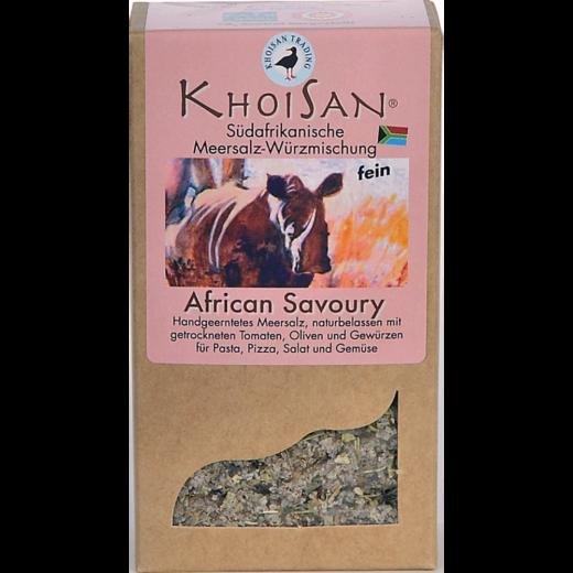 """Fairtrade Meersalz Tomaten Oliven """"African Savoury"""" in der Verpackung"""