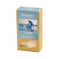 Fairtrade Fleur de Sel Gourmet-Meersalz von fairsalzt in der Schachtel