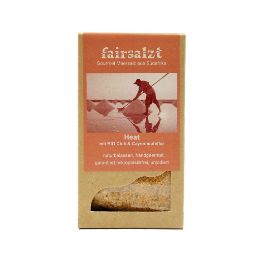 """Fairtrade Meersalz Chili """"Heat"""" von fairsalzt in der Schachtel"""