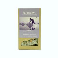 """Fairtrade Meersalz Kräuter und Blüten """"Herbs"""" von fairsalzt in der Schachtel"""
