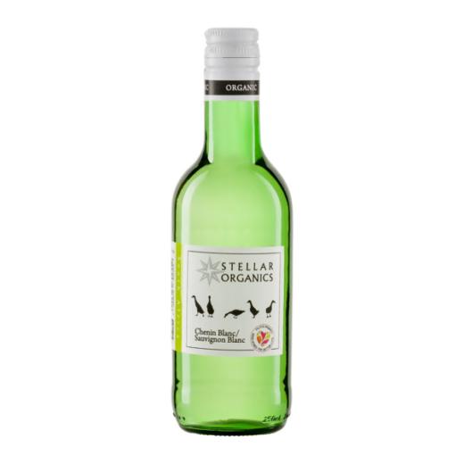 Fairtrade Weißwein Chenin Blanc / Sauvignon Blanc von Stellar Organics aus Südafrika in der kleinen Flasche