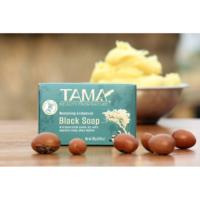 TAMA Sheabutter Schwarze Seife Antibakteriell in Verpackung