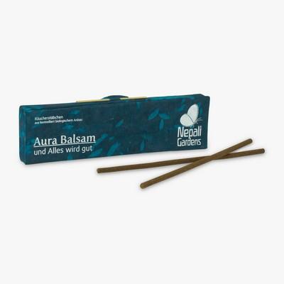 Bio- & Demeter-Räucherstäbchen Aura Balsam von Nepali Gardens aus Nepal