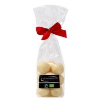 Fairtrade Bio Weiße Schokolade Pralinen von Schönenberger aus der Schweiz im Cellophanbeutel
