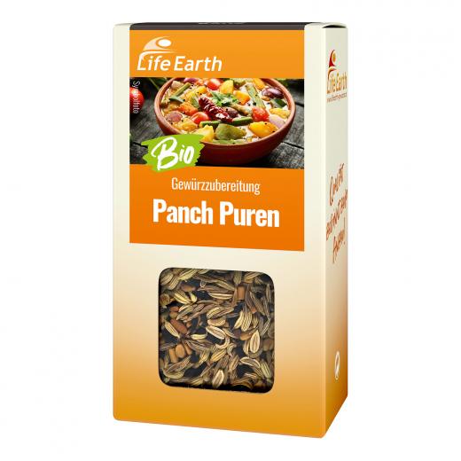 Bio Panch Puren Gewürzmischung von Life Earth Verpackung