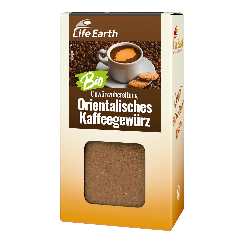 Bio Orientalisches Kaffeegewürz von Life Earth Verpackung