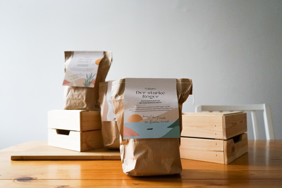 Beispiele für Brotbackmischungen des URfair-Produzenten Celebake
